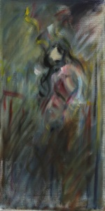 "gypsy oil on canvas, 10"" x 20"""