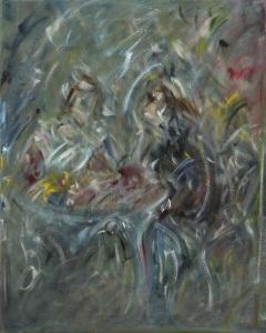 """conversationoil on canvas, 16"""" x 20"""""""