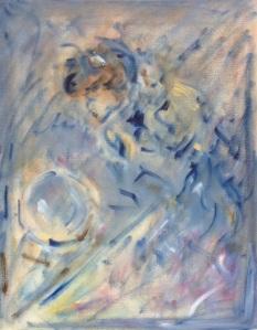 """crystal ball gazingoil on canvas, 11"""" x 14"""""""
