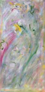 """flower faceoil on canvas, 10"""" x 20"""""""